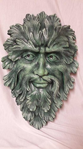 Greenman Wall Plaque Hand Painted Acrylic ()