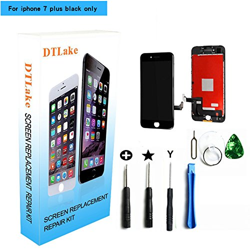For iPhone 7 plus 5.5 inch LCD Replacement screen with Touch Screen Digitizer Fram Assembly Full Set + free Tools (black)