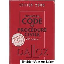 Nouveau code de procédure civile édition 2008