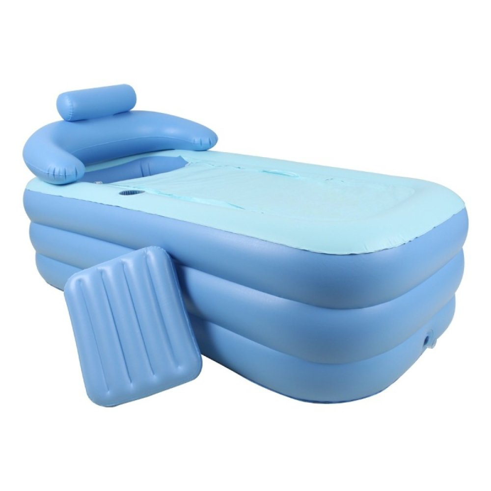 LIJUN Aufblasbarer Pool PVC Aufblasbare Badewanne Erwachsene Aufblasbare Badewanne Baby Pool Faltbare Badewanne,2【160  84  64cm】 1【1608464cm】
