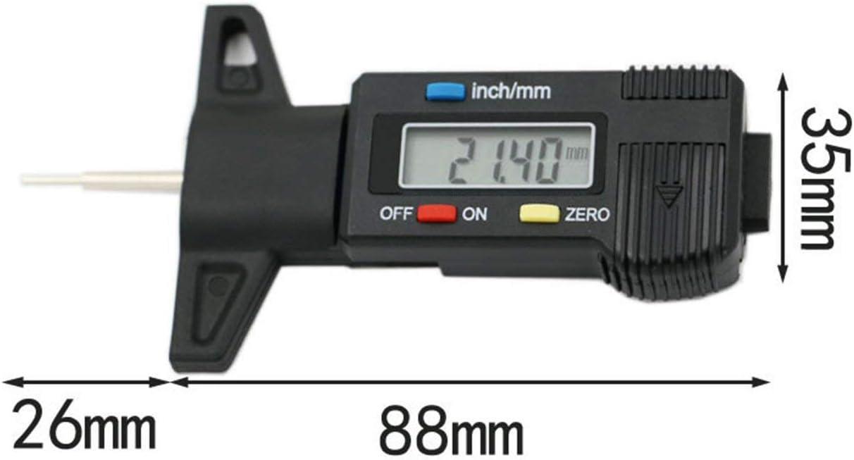 Peanutaod 0-25,4 mm 0,01 Digitaler Profiltiefenmesser Elektronischer LCD-Reifen Reifen Rad Profiltiefenbremsenmesser Messwerkzeuge