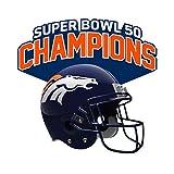 Stockdale Denver Broncos Super Bowl 50 Champions Free-Form Acrylic Auto Emblem