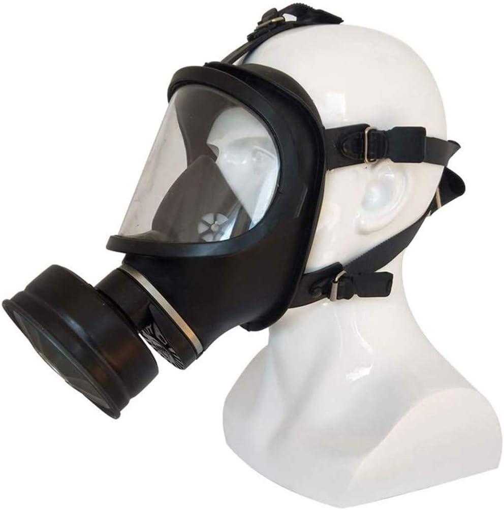 XIAOCUI Máscara antigas, máscara de Cara con Ventilador, para protección de Paintball, Airsoft, máscara de Polvo, fácil de Respirar, Evitar el Polvo y Gases nocivos