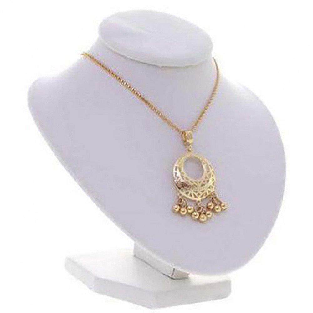 Porte bijoux buste porte collier et chaine simili cuir 16 cm