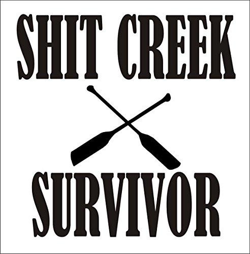 Tarpon Seat (Shit Creek Survivor River Camping Paddle|WHITE| Paddle River Camping Vinyl Decal Sticker|Cars Trucks SUV Laptops Canoe Kayak Wall Art|4.25