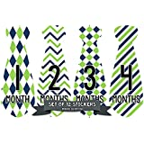 Months in Motion 723 Monthly Baby Stickers Necktie Tie...