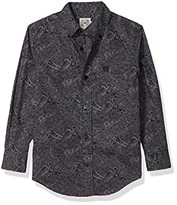 Cinch Boys' Big Long Sleeve Printe D Shirt