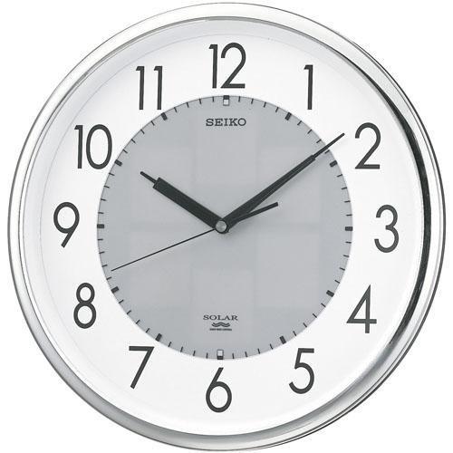 SEIKO CLOCK(セイコークロック) 電波掛け時計 ツインパ ソーラープラス シルバーSF226S B0011XZCQM