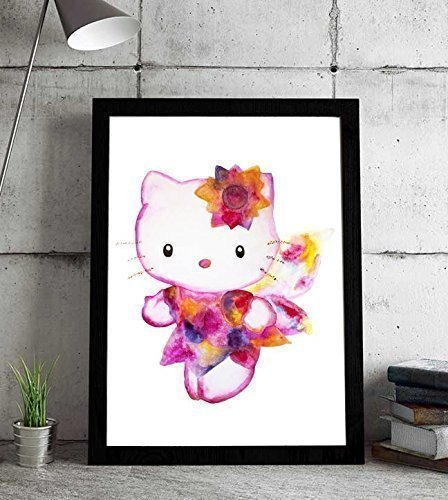 Hello baby girl - Hello Kitty Cat Wall Decoration - kitty cat decor