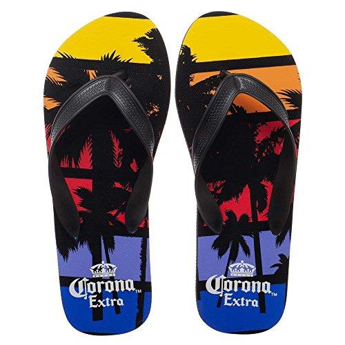 Corona Extra Palm Trees Sunset Unisex Sandals Flip Flops Medium