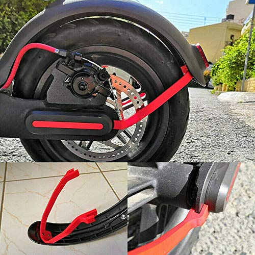 Seway Scooter Mudguard Bracket Fender Support for M365 Xiaomi Mijia  Electric Scooter Mod Modification Black (Red Fender Bracket with 3 dampers)