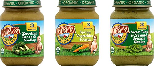 6 Ounce Each Pack (Earth's Best Organic Stage 3 Favorite Sides Baby Food Variety Pack, 6 oz Each, 12 Count)