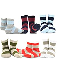 TeeHee (Naartjie) Kids Boys Basic Cotton Crew Socks 6 Pair Pack