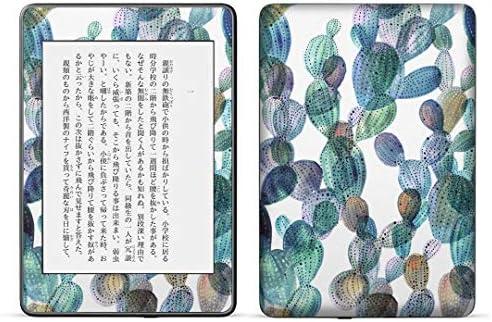igsticker kindle paperwhite 第4世代 専用スキンシール キンドル ペーパーホワイト タブレット 電子書籍 裏表2枚セット カバー 保護 フィルム ステッカー 016359 サボテン 植物 グラデーション