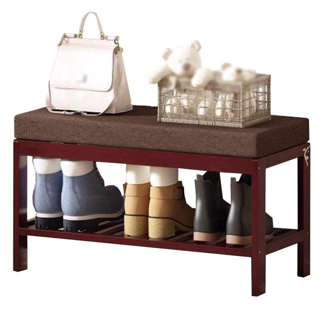 62MJ Shoe Rack Bracket Seat Wooden Small Storage Manager Walkway Corridor Hall Balcony (Color : Style, Size : 1) by 62MJ