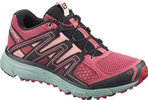 Salomon Women's X-Mission 3 W Trail Running Shoe, Garnet Rose/Trellis/Coral Almond, 7 M US