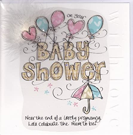 Baby Shower Card Large Luxury Card Amazon Co Uk Kitchen Home