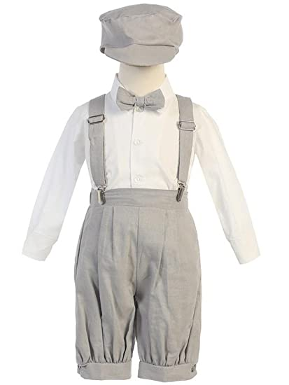 206482e6a Amazon.com  Vintage Baby Toddler Boys Knickers Suit Light Gray 12M ...