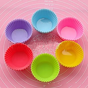 Bricolaje de silicona para hornear 6 juntos Circular color pastel Muffin taza huevo flan tarta con gelatina 7cm: Amazon.es: Bricolaje y herramientas