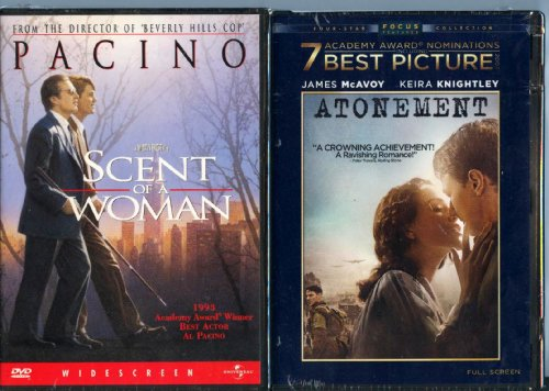 Scent of a Woman & Atonement 2 DVD Pack~ Al Pacino