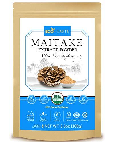 Maitake Mushroom Extract Powder 5:1,USDA Organic, 30% Beta-D-Glucan Supplement,3.5oz