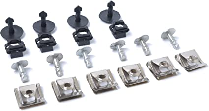 20X Car Undertray Guard Engine Under Cover Fixing Clips Screw KIT For AUDI