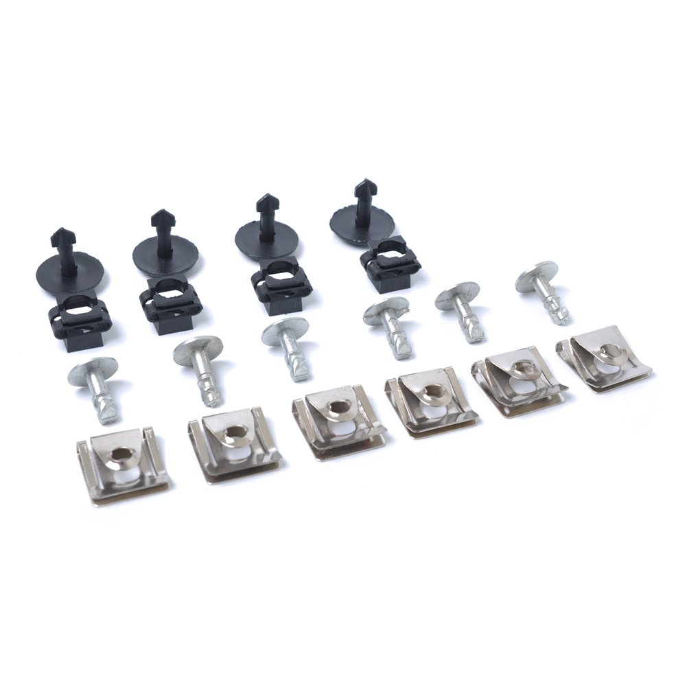 Yiwa AUDI A4 A6 A8 VW Undertray garde capot moteur Fixation Fixation Clips & Kit de vis