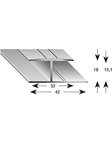 kügele Base gleitabsc hluss Perfil 900 mm, H de perfil, aluminio, anodizado para