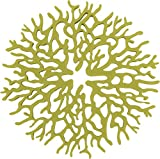 Rachael Ray Silicone Heat Resistant Multi-Use Coral Design Trivet, Celery Green