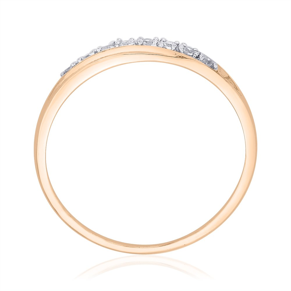 Diamond Wedding Band in 10K Pink Gold Size-6.5 1//20 cttw, G-H,I2-I3