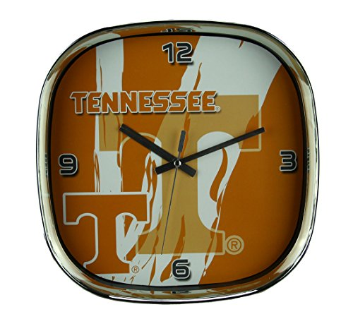 The Memory Company University of Tennessee Volunteers Glass Face Wall Clock Chrome Finished Frame