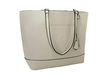 6ef617470a6d Amazon.com  New Guess Logo Signature Purse Hand Bag Tassel Tote Stone Beige  Tan Nude  Shoes
