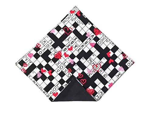 (Valentine Handkerchief Sweetheart Crossword Pocket Square for Men (Mens))