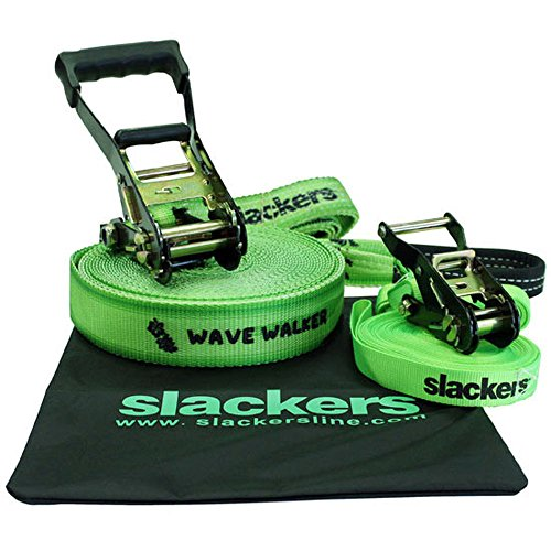 Brand 44 Slackers Wave Walker Slackline Toy, Green, 50' by 44 LLC