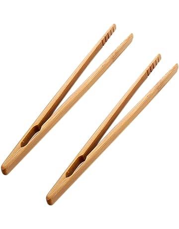 UPKOCH 16 Piezas Pinzas de Bamb/ú Mini Pinzas de Cocina de Madera Pinzas para Servir Alimentos BBQ Az/úcar Ensaladas Hielo Az/úcar Barbacoa Buffet