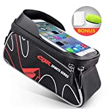 Beusoft Top Tube Front Frame Bike Bag Waterproof Touch Screen Phone Case Samsung Galaxy s7 s6 Note 7 Cellphone Under 6.3 inch