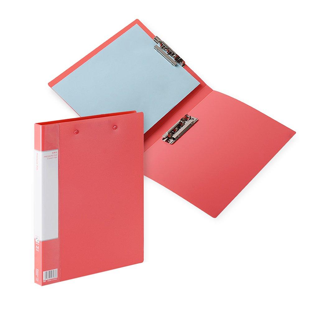 Zhi jin cartellina A4 Foldover cartelline portadocumenti Portablocco con portaoggetti a doppia clip Board organizer per ufficio Black