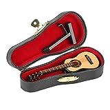 Wooden Miniature Guitar Mini Musical Ornaments Mini Musical Instrument Miniature Dollhouse Model Home Decoration