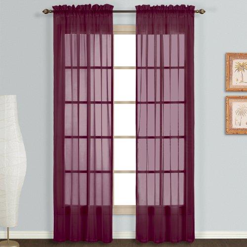 United Curtain Monte Carlo Voile Curtain Panel Pair