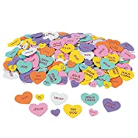 """FX/OT 100 ~ Inspirational Conversation Heart Foam Stickers / Self-Adhesive Shapes ~ 1"""" to 2"""" ~ New"""
