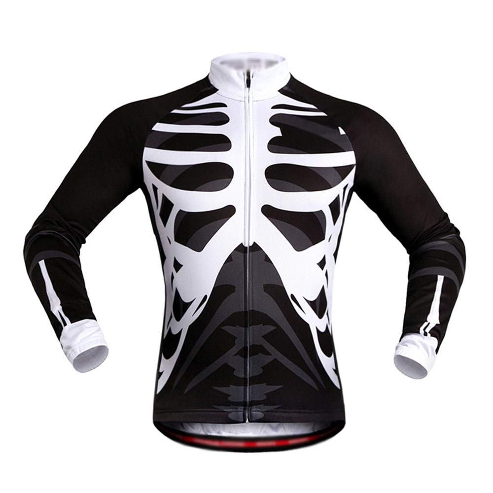 Guolipin Womens Cycling Suits Unisex Adult Men Cycling Jerseys Long Sleeve Reflective Women Bike Suits With Back Pocket Breathable Soft Comfort For Ladies Color : Black, Size : S
