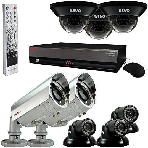 Elite System W/ 16 Channel 4TB DVR & 8 C - Revo RV-RE16BNDL28-4T