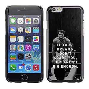 Planetar® ( Boxing Fighter Exercise Motivational Quote ) Apple iPhone 6 Plus(5.5 inches)Fundas Cover Cubre Hard Case Cover