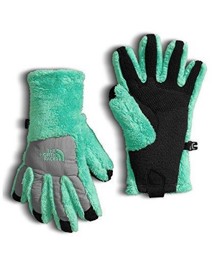 300 Fleece Thermal - The North Face Girls' Denali Thermal Etip Glove - bermuda green/metallic
