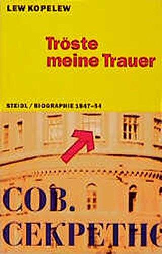 Steidl Taschenbücher, Nr.68, Tröste meine Trauer