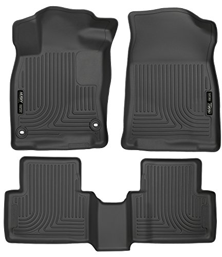 Husky Liners 98461 Black Weatherbeater Front & 2nd Seat Floor Liners Fits 2016-2019 Honda Civic Coupe/Sedan, 2017-2019 Honda Civic Hatchback