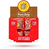 GO CUBES Energy Chews, Pure Drip Coffee Flavored, 4 count chews (20 Pack)