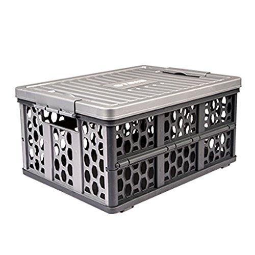 Caja de Almacenamiento del Maletero de Gama Alta Caja de Almacenamiento del Coche Plegable Caja incorporada del Coche de...
