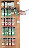 Spice Rack 20 spice gripper- Spice Racks Strips Cabinet Cabinet Door - Use Spice Clips for Spice Organizer - stick or screw Spice Storage Spice Clips