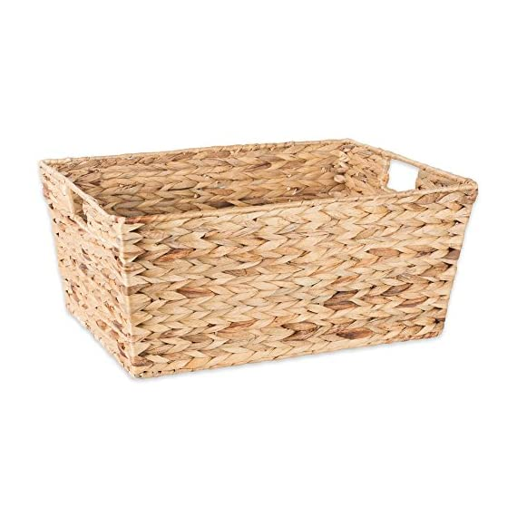 """DII Natural Water Hyacinth Storage Basket with Handles, Beige - SET OF 5 BASKETS: Includes two small (9x7x6""""), two medium (11x9x7""""), and one large (12.6x9x7.88"""") hyacinth baskets HAND-WOVEN: These baskets are hand-woven for that unique charm, so actual sizes may vary slightly SUFFICIENT STORAGE WITH STRONG CONSTRUCTION: Hyacinth storage baskets have a strong woven design with carrying handles for easy carrying - living-room-decor, living-room, baskets-storage - 513AFwGHT8L. SS570  -"""